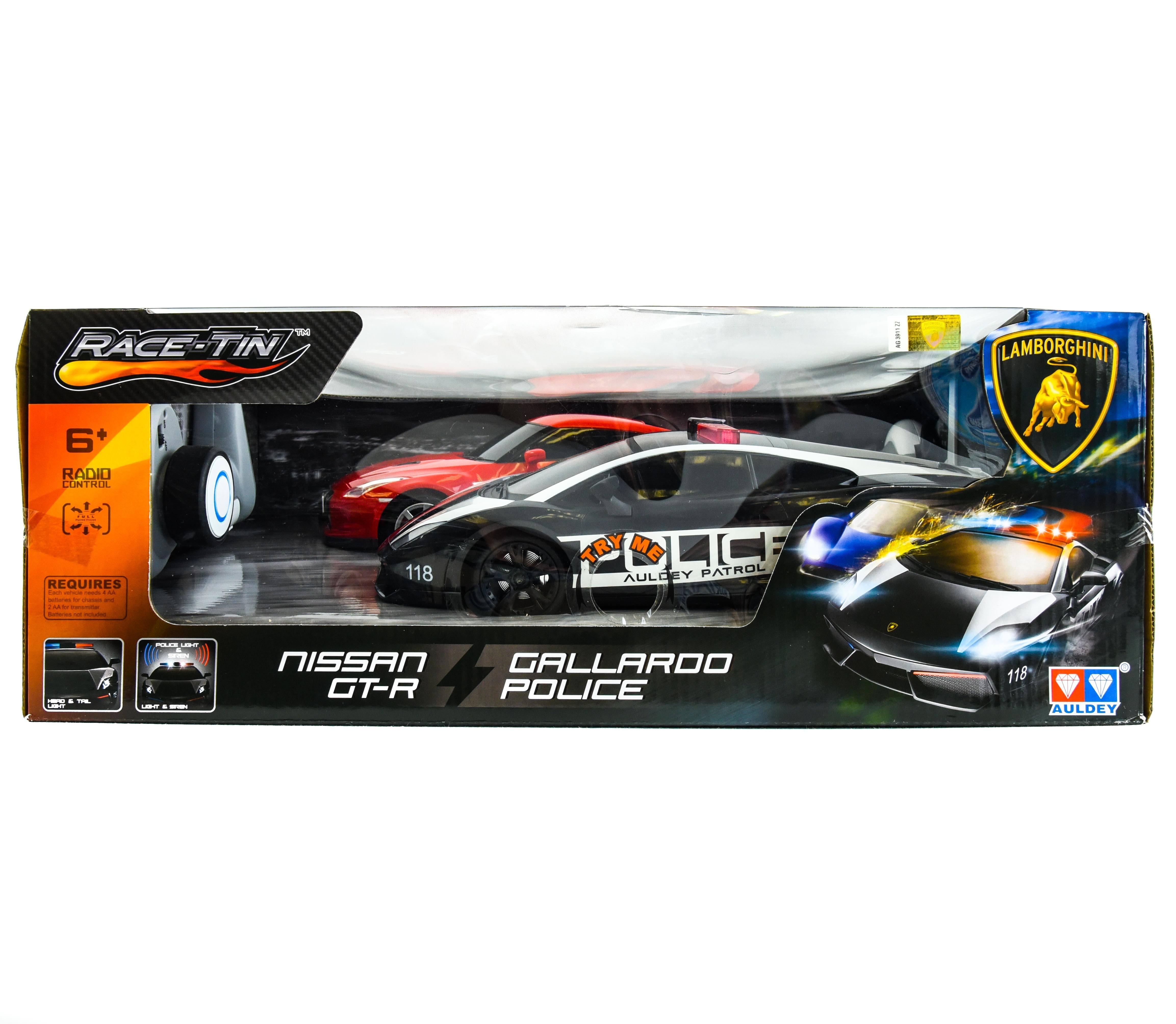Race Tin 2 Pk R C Lamborghini Vs Nissan Gt R Samko And Miko Toy