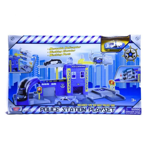 Police Station Motor Max Playset
