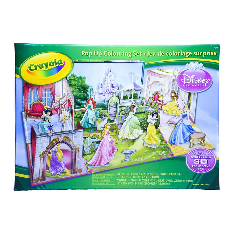 Pop-Up Colouring Set Lg. - Disney Princess