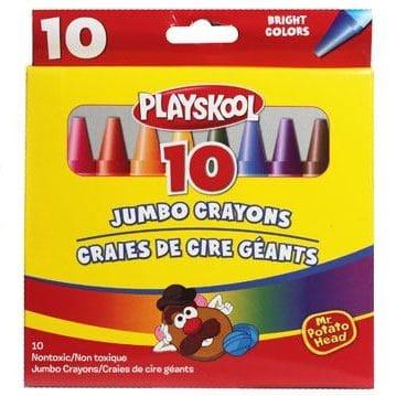 Playskool 10 Jumbo Crayons