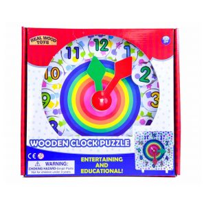 Wooden Clock Puzzle by Real Wood Games