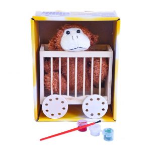 Paint Your Own Caged Monkey