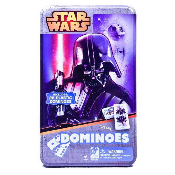 Disney Star Wars Dart Vader Dominoes with Tin