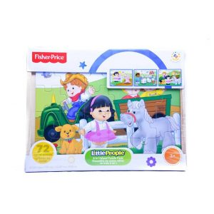 Little People 3 in 1 Wood Puzzle Pack