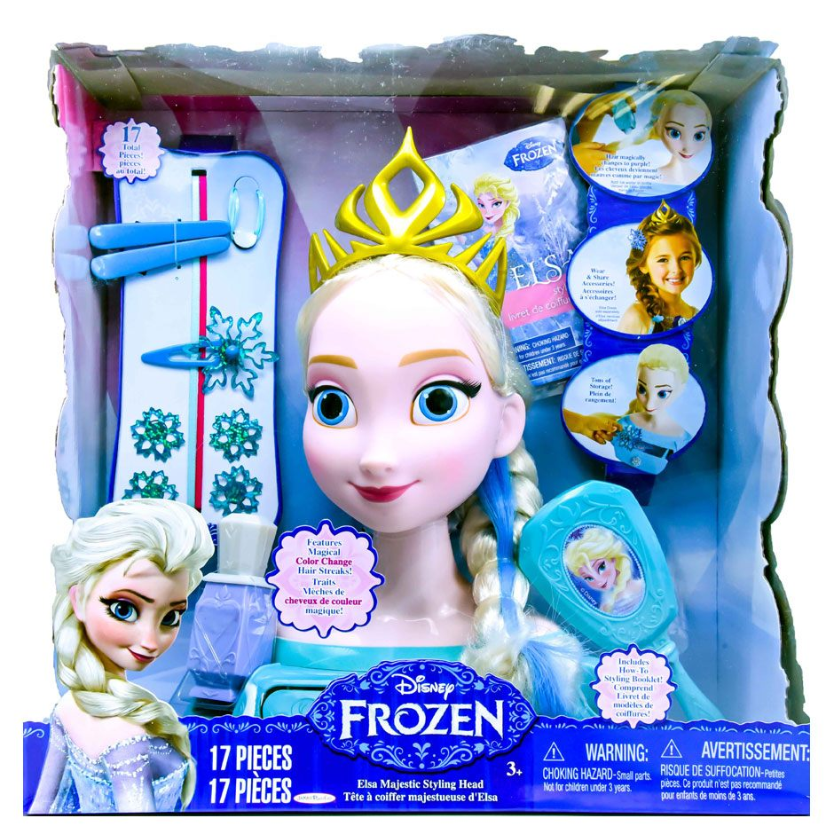 Frozen Majestic Hair Styling Head Elsa Blonde Samko And Miko Toy