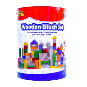 Wooden Block Set Bucket 100pc.