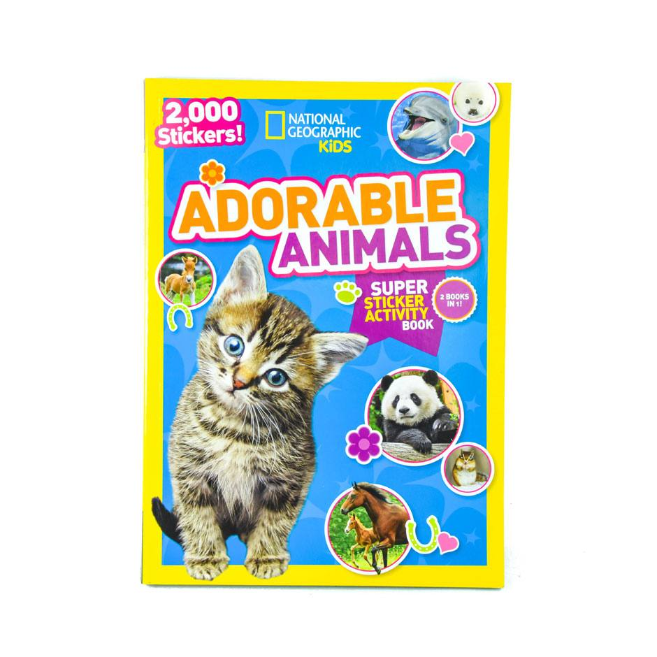 Adorable Animals Super Sticker Activity Book