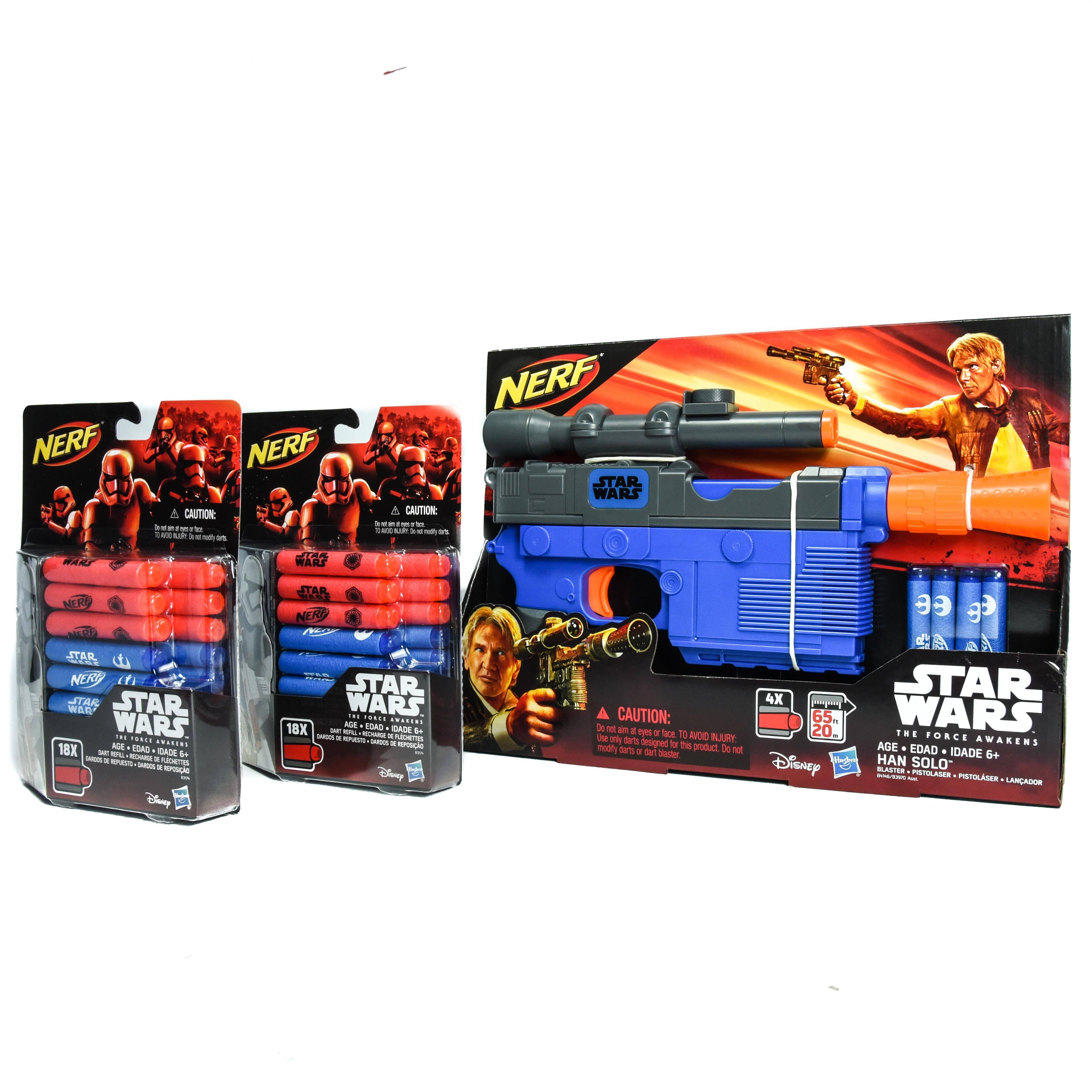 Star Wars Hans Solo Nerf Blaster w/40 Darts