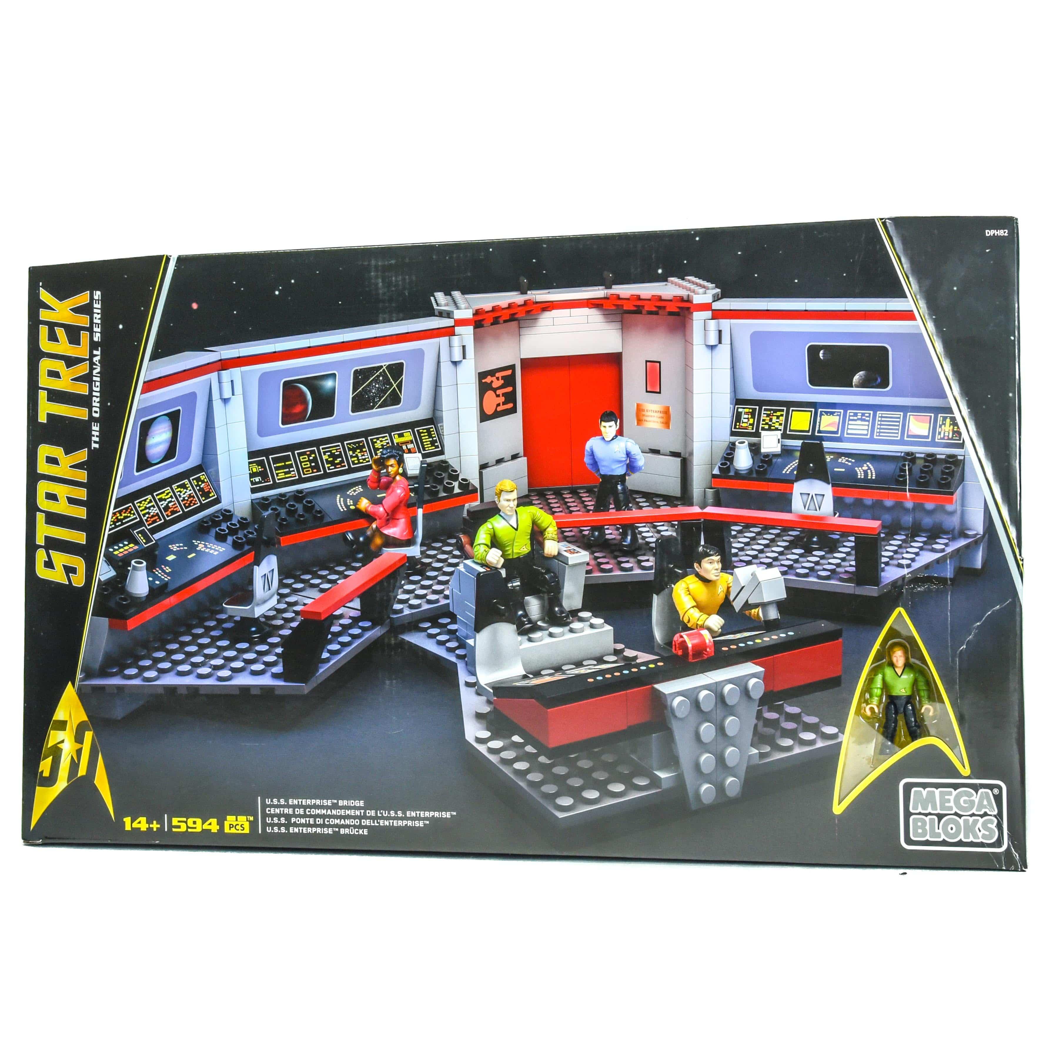 Sold Out Star Trek Uss Enterprise Bridge Mega Bloks 594pc Set