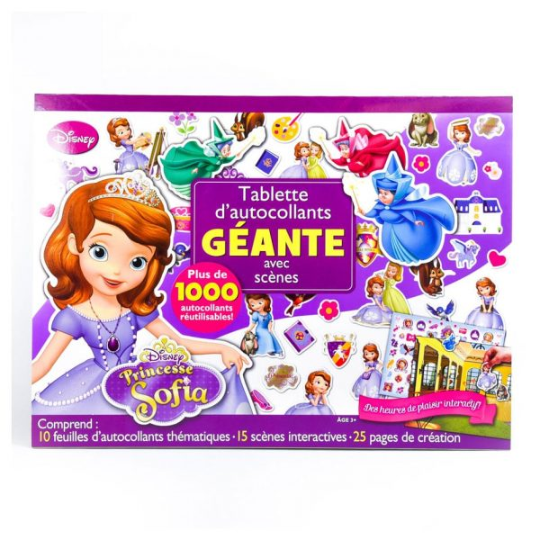 Princesse Sofia: Tablette d'autocollants GEANTE avec scènes (French)