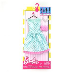 Barbie Fashionistas Green and Pink Dress
