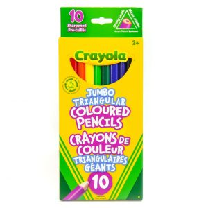 Crayola Jumbo Triangular Colored Pencils (10 Pack)