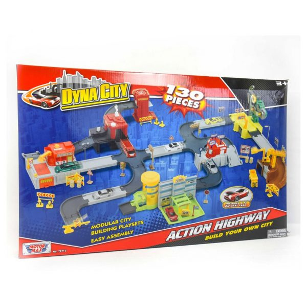 Dyna City Action Highway 130 Piece Playset