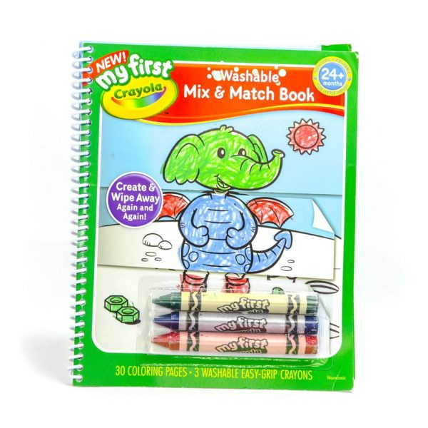 Crayola My First Washable Mix & Match Book