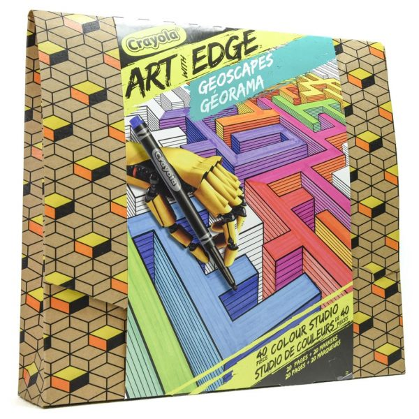 Crayola Art with Edge: Geoscapes 40 Piece Colour Studio