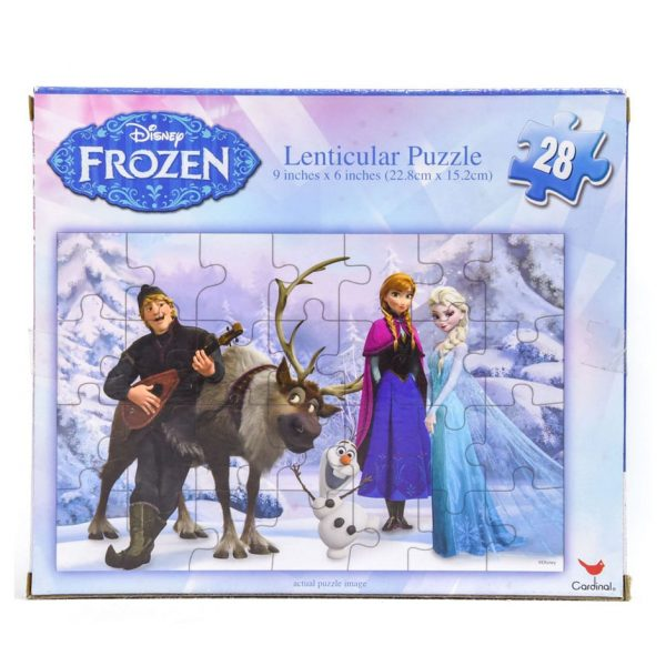 Frozen 28 Piece Lenticular Puzzle - Kristoff Playing Guitar