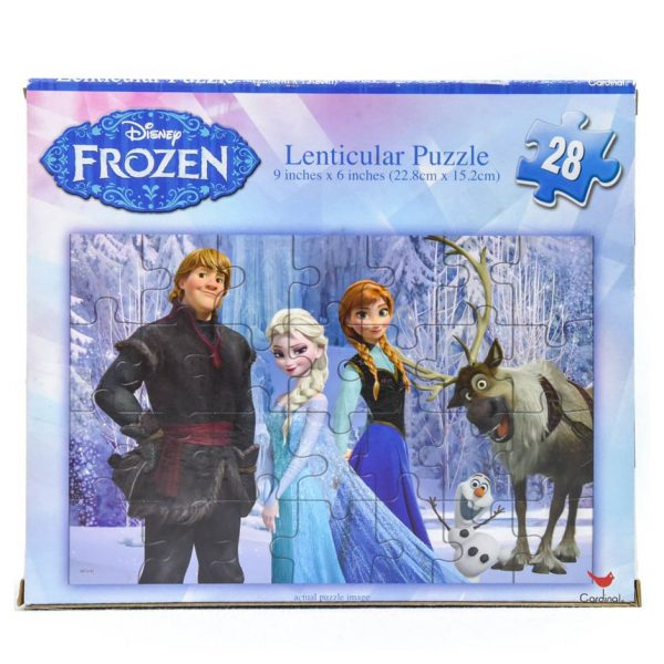 Frozen 28 Piece Lenticular Puzzle - No Guitar