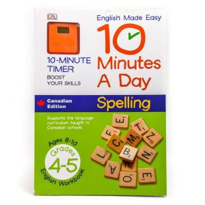 10 Minutes a Day: Spelling Grades 4-5 English Workbook