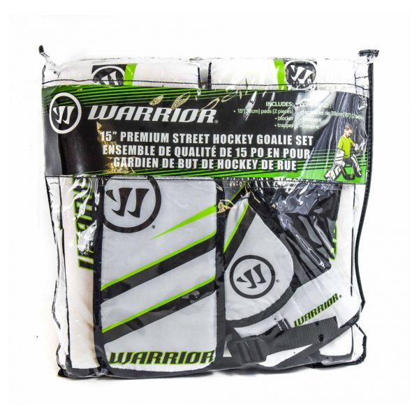 "Warrior 15"" Premium Street Hockey Goalie Pad Set"