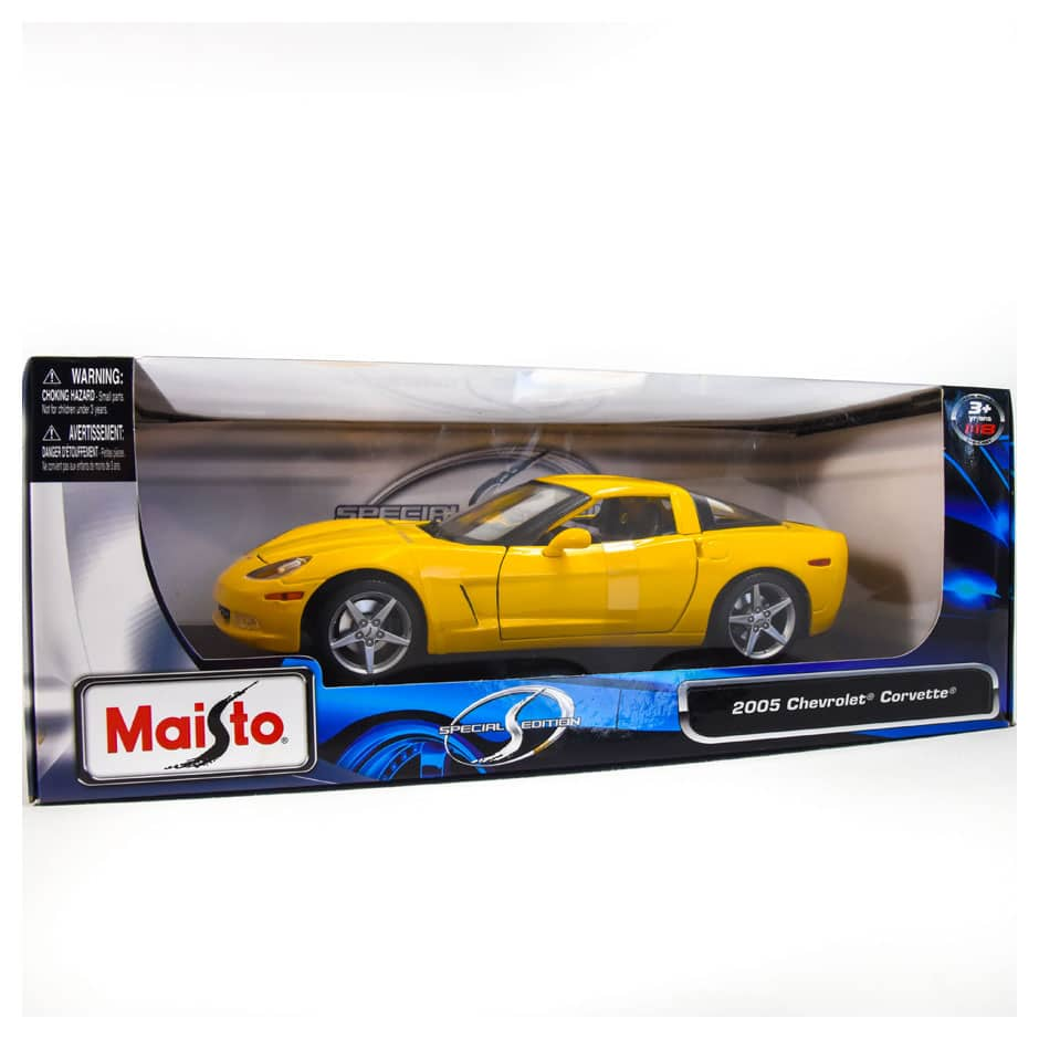Sold Out Corvette Z06 Yellow 1 18 Scale Die Cast