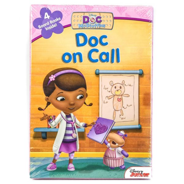 Doc McStuffins: Doc on Call (4 Board Book Set)