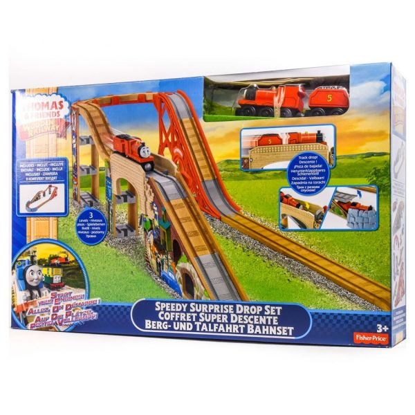 Thomas & Friends Wooden Railway: Speedy Surprise Drop Set
