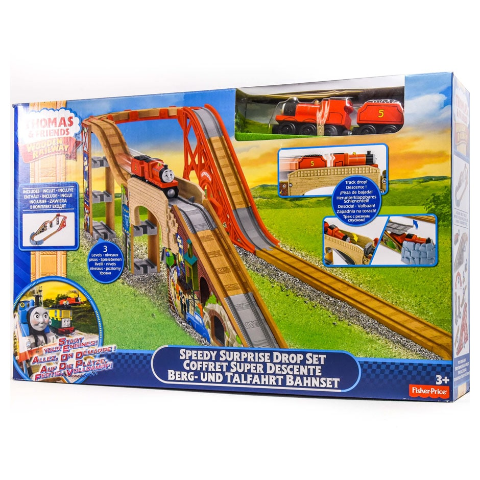 306938013e50 Thomas And Friends Wooden Railway: Speedy Surprise Drop Set | Samko ...
