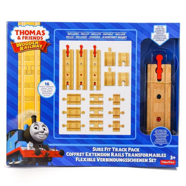 Thomas & Friends Wooden Railway: Sure Fit 16 Piece Track Pack