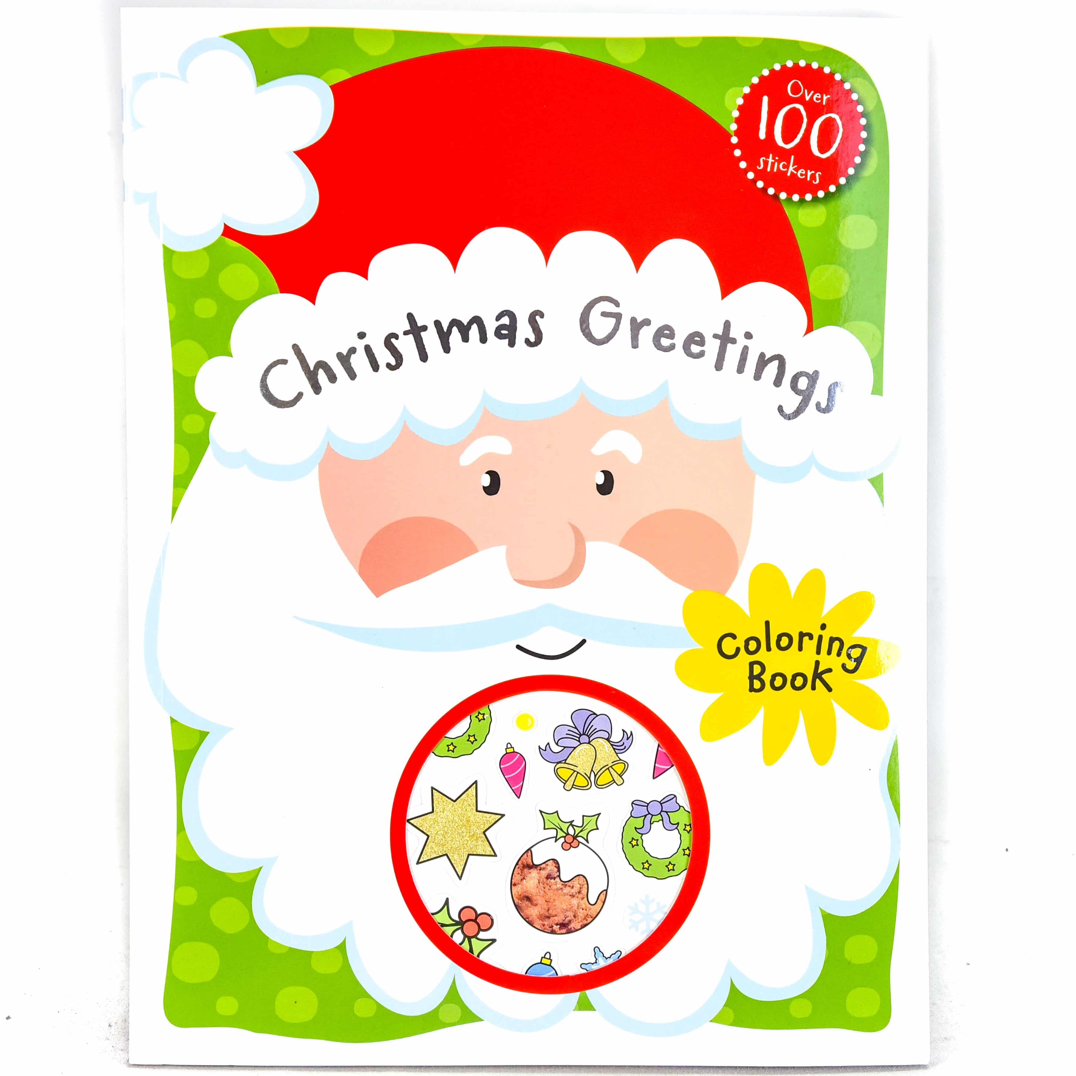 Christmas Greetings Coloring Book (with over 100 Stickers) | Samko ...