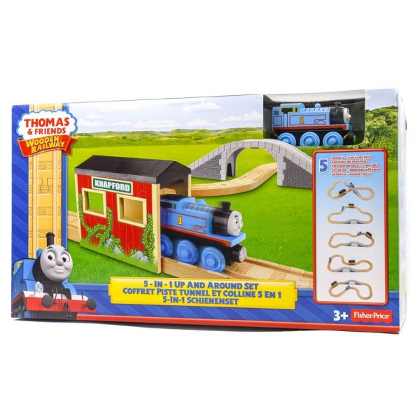 Thomas & Friends Wooden Railway: 5-in-1 Up and Around Set