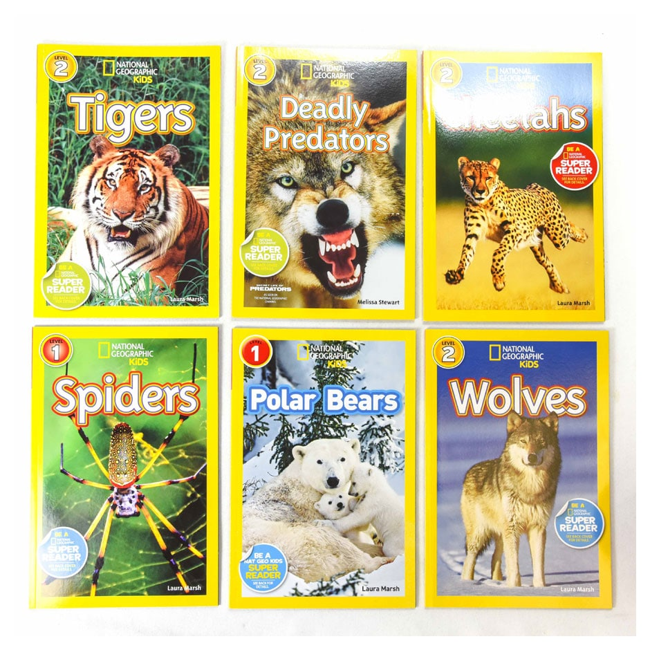 National Geographic Kids 6pc. Set Level 1 & 2