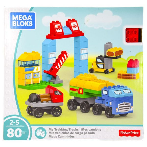 My Trekking Trucks (80 Piece) Mega Bloks Set