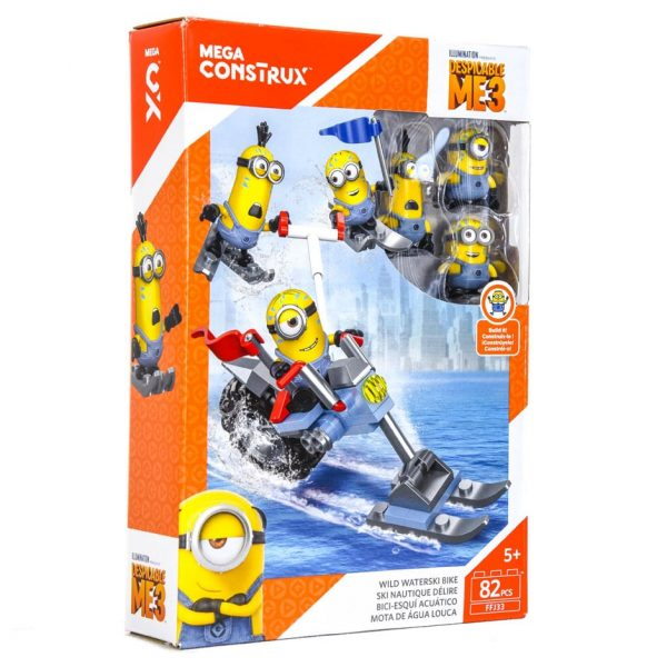 Minions Mega Construx Wild Waterski Bike 82 Piece Set