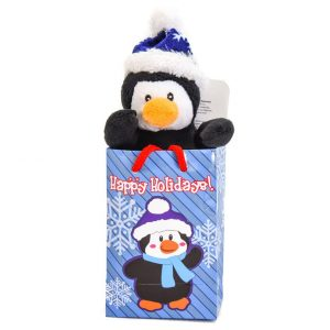 """Penguin 6"""" Plush in a Happy Holidays Gift Bag"""