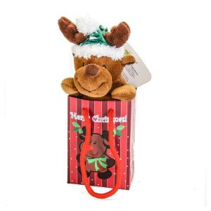 """Reindeer 6"""" Plush in a Merry Christmas Gift Bag"""