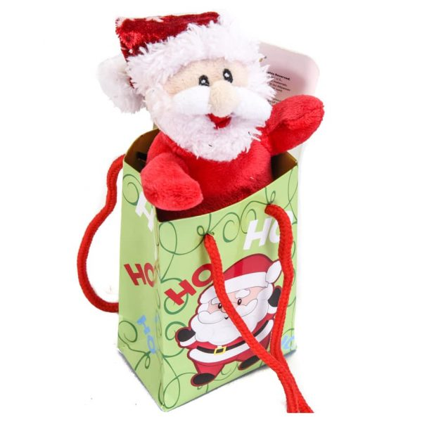"Santa 6"" Plush in a Ho Ho Ho Gift Bag"