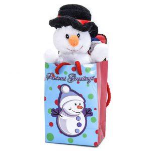 "Snowman 6"" Plush in a Seasons Greetings Gift Bag"