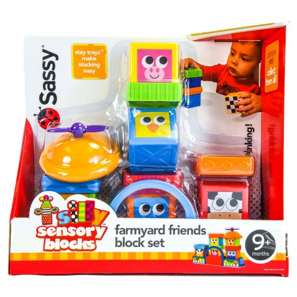 Sassy Silly Sensory Blocks: Farmyard Friends Block Set