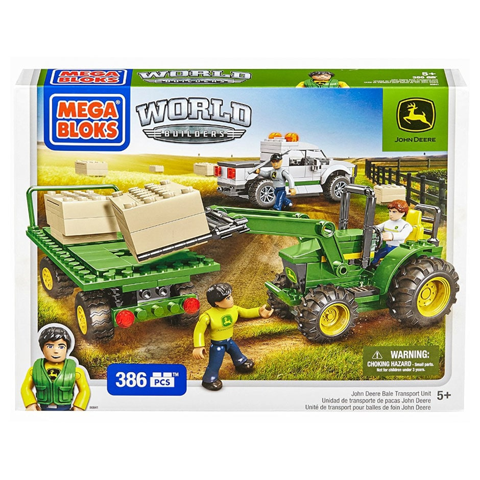 Mega Bloks World Builders: John Deere Bale Transport Unit (386 Piece Set)