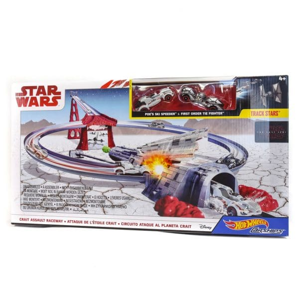 Star Wars Hot Wheels Carships: Crait Assault Raceway