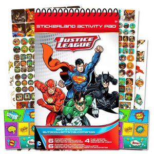 Justice League Stickerland Activity Pad