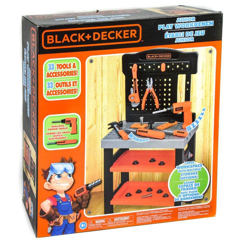 Black And Decker Junior Play Workbench 33 Piece Samko