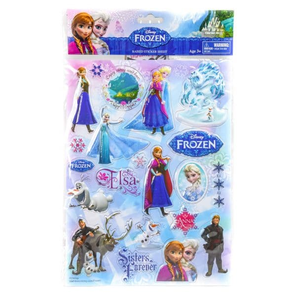 Frozen Raised Sticker Sheet