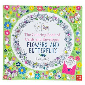 Flowers and Butterflies Colouring Book of Cards