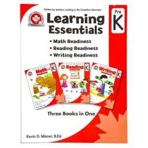 Canadian Curriculum Press Workbook Series: (Grade: Pre K) Learning Essentials (3-BOOKS-IN-1)