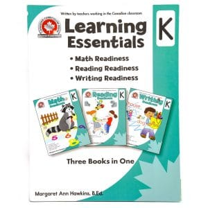 Canadian Curriculum Press Workbook Series: (Grade: K) Learning Essentials (3-BOOKS-IN-1)