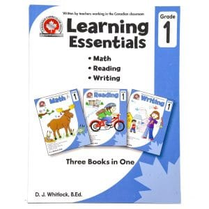 Canadian Curriculum Press Workbook Series: (Grade: 1) Learning Essentials (3-BOOKS-IN-1)