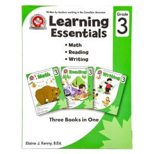 Canadian Curriculum Press Workbook Series: (Grade: 3) Learning Essentials (3-BOOKS-IN-1)