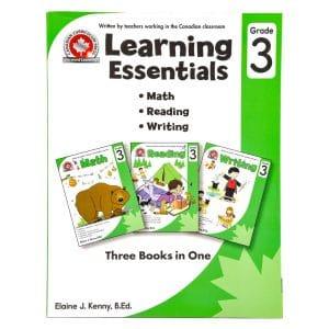 Canadian Curriculum Press Workbook Series: (Grade: 3) Learning Essentials (3-BOOKS-IN-1)