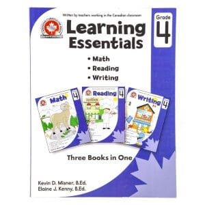 Canadian Curriculum Press Workbook Series: (Grade: 4) Learning Essentials (3-BOOKS-IN-1)